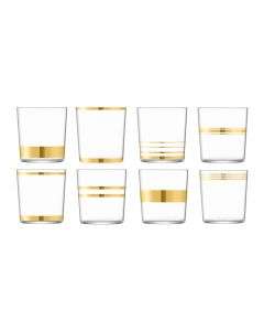 LSA Deco Assorted Gold Tumblers - Set of 8