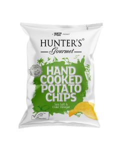 HUNTERS HAND COOKED SEA SALT&CIDER VINEGAR 125 G