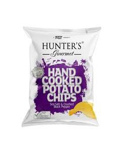 HUNTERS HAND COOKED SEA SALT & CRUSHED BLACK PEPPER 125 G