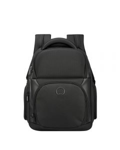 DELSEY QUARTERB PREMIUM 2C EXPANDABLE BACKP PC- BLACK