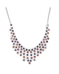 CATHERINE SILVER AND CRYSTAL SHORT STATEMENT NECKLACE