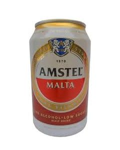 AMSTEL MALTA CAN 33CL (x6 cans)