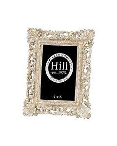 HILL ANTIQUE CHAMPAGNE ORNATE CUT OUT FRAME 4*6