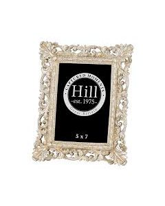 HILL ANTIQUE CHAMPAGNE ORNATE CUT OUT FRAME 5*7