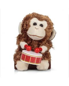 Monkey with drum toy
