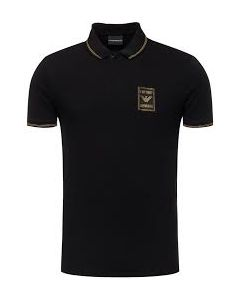 EMPORIO ARMANI- POLO T-SHIRT- BLACK