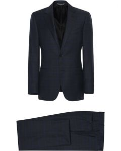 CANALI BLACK LINED WOOL SUIT