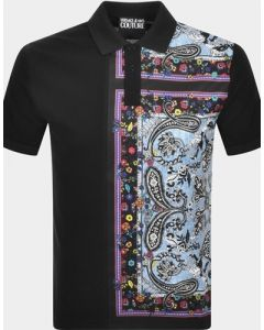 VERSACE- POLO TOP WITH PRINT