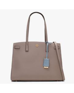 TORY BURCH- WALKER SATCHEL- GREY