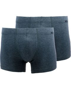 HANRO 2-Pack grey stretch cotton long boxer briefs