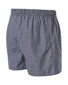 HANRO BOXERS- FANCY WOVEN- SHADED CHECK
