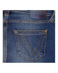 Versace Relaxed Blue Wash Denim Jeans V600281A VT01393