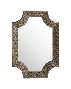 HILL- AGES ANTIQUE BRONZE DETAILED WALL MIRROR