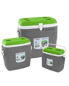 SQPROFESSIONAL CAMPMATE ICE CHEST SET 3PCS GREY& GREEN