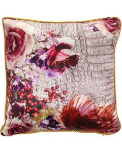 Roberto Cavalli Fior Di Cocco Silk Cushion -  40X40cm