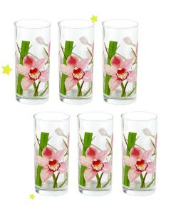 A set of glasses Luminarc Red Orchis6 Pcs