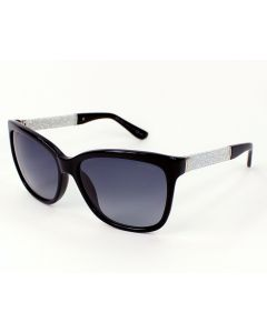 Jimmy Choo Fabry/S Black and Glitter Silver Sunglasses