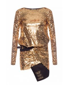VERSACE COUTURE GOLD LADY DRESS