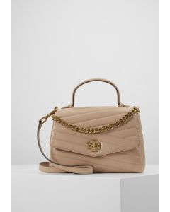 TORY BURCH-KIRA CHEVRON TEXTURED TOP HANDLE SATCHEL- CREAM