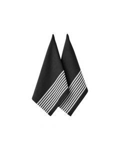 LADELLE- BUTCHER SERIES 2 BLACK 2PK KITCHEN TOWEL