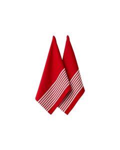 LADELLE- BUTCHER SERIES 2 RED 2PK KITCHEN TOWEL