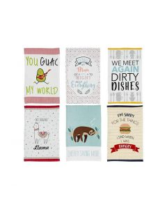 LADELLE- NOVELTY POSITIVITY ASSORTED KITCHEN TOWEL