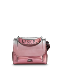 NINON DE LANCEL FLAP BAG ROSE DEGRADE SHADED PINK