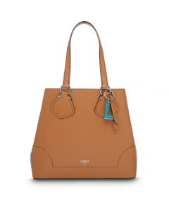 LANCEL  CARRYALL CABAS CAMEL TOTE BAG