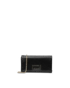 LANCEL PIA-POCHETTE BLACK CLUTCH