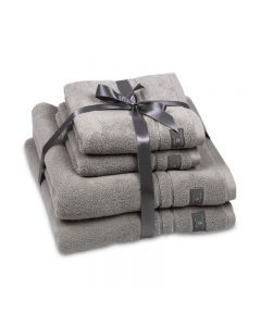 CANNON-TOWEL 50*100 TERRY 100%COT JAC DIAMOND /XA MODEL/ - GREY
