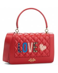 Love Moschino Borsa Quilted Nappa Pu Russo Red Shoulder Bag