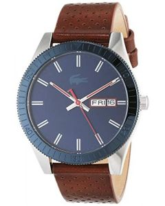 Lacoste Mens Analogue Classic Quartz Watch with Leather Strap 2010981