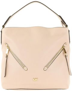MICHAEL KORS EVIE LARGE SOFT PINK LEATHER HOBO BAG