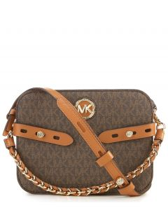 Michael Kors Carmen logo intarsia crossbody Brown