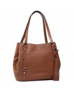 Michael Kors Carrie Large Pebbled Shoulder Bag Brown
