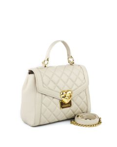 LOVE MOSCHINO Heart Quilted Henkeltasche white