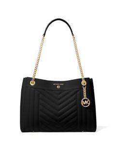 Michael kors Susan Medium Quilted Leather Shoulder Bag black