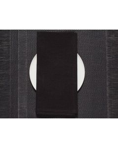 Chilewich Single Sided Napkins (Black) 8 Pieces