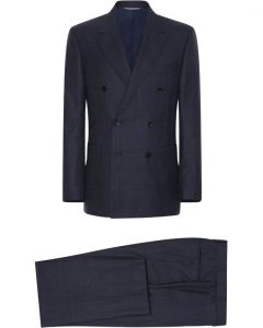 CANALI SUIT NAVY BLUE DOUBLE BREASTED