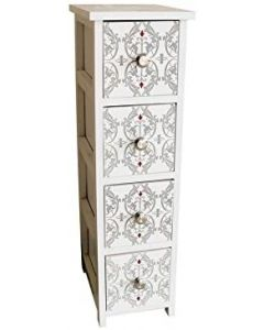BLUECANYON DAMASK 4 DRAWER STORAGE CABINET- PRE