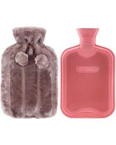 BLUE CANYON 2L HOT WATER BOTTLE+ FUR COVER SLATE