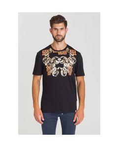 VERSACE COLLECTION BLACK+PRINT T-SHIRT