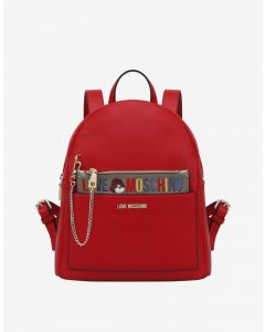 Love Moschino Borsa Pu Rosso Red Backpack