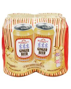 Royalty Ginger Beer, 330ml ,(Pack of 4)
