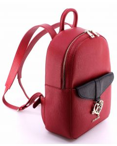 Backpack LOVE MOSCHINO Borsa New Saff Pvc Mix Rosso Nero Red