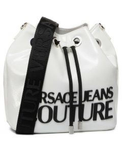 Versace Jeans Couture Polished White Bucket Bag