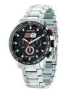 Sector Men's Racing Analog Display Quartz Silver Watch