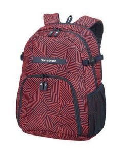 SAMSONITE- REWIND LAPTOP BACKPACK M CAPRI RED STRIPES