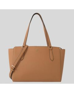 Tory Burch Emerson Small Top Zip Tote brown