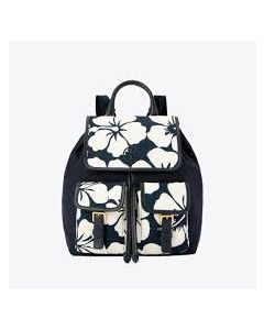 TORY BURCH-PERRY NYLON PRINTED FLAP BACKPACK- FLORAL